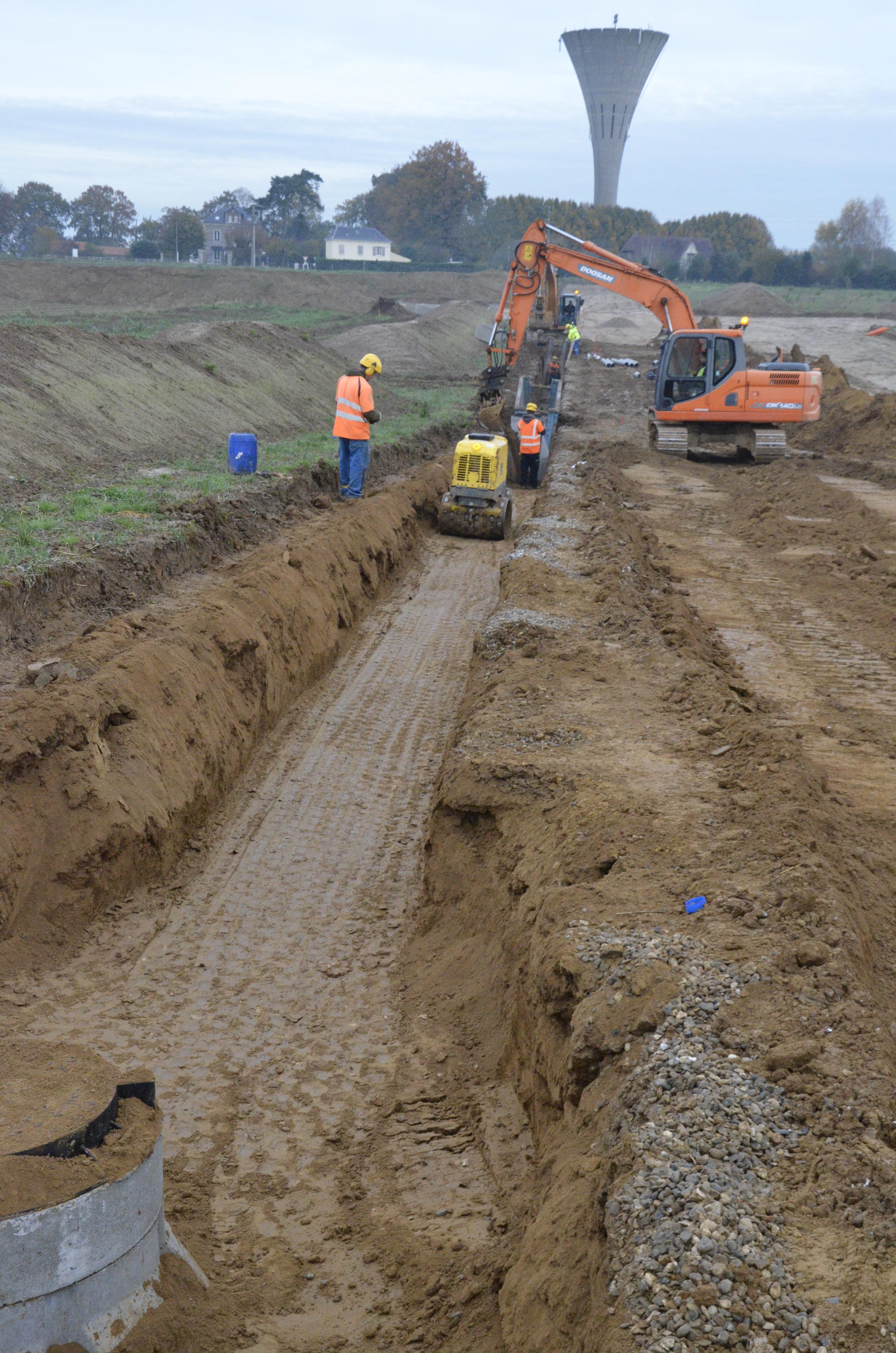 Les travaux d 39 extension vont bon train parc co normandie for Extension travaux